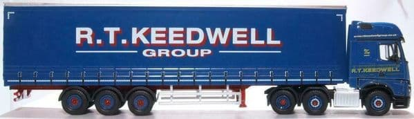 Oxford 76MB011 MB011 1/76 OO Scale Mercedes Actros GSC Curtainside R T Keedwell